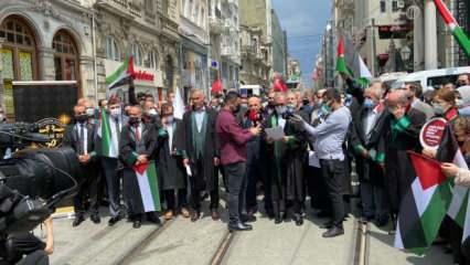 Hukukçular derneği ve İstanbul 2 Nolu barosundan Filistin'deki zulme kınama
