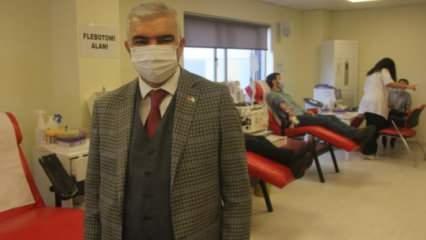Koronavirüsü yendi, diğer hastalar için plazma bağışladı
