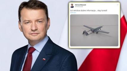 Polonya Savunma Bakanı'ndan heyecanlandıran Bayraktar TB2 paylaşımı