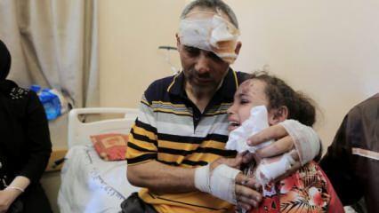 Terör devletinin anne ve 4 kardeşini şehit ettiği 6 yaşındaki Suzi babasına kavuştu