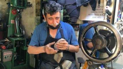 40 yıllık ayakkabı tamircisi yeni ustaların yetişmemesinden şikayetçi