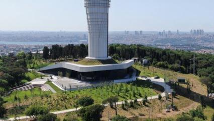 Açılışa gün sayan Çamlıca Kulesi havadan fotoğraflandı