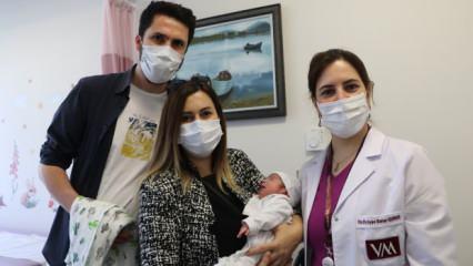 Samsun'da tıpta nadir durum: Doruk bebek yemek borusu olmadan doğdu