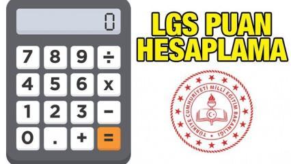 LGS puan hesaplama nasıl yapılır? LGS puan hesaplama! 50, 55,60,65,70,75 net kaç puan yapar?