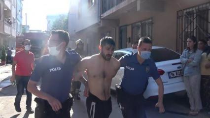 Bursa'da akılalmaz olay! Önce evini yaktı, sonra satır ve bıçakla direndi