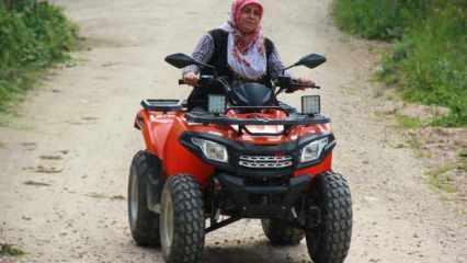 Köyün 'ATV'li Seher Ablası' görenleri şaşırtıyor!