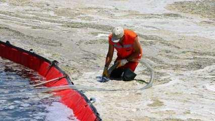 Marmara'da müsilaj seferberliği: 5 günde 1700 metreküp temizlendi