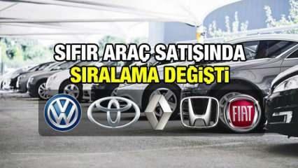 Sıfır araç satışında sıralama değişti! Volkswagen, Toyota, Renault, Fiat, Honda, fiyatları rekabeti kızıştırdı