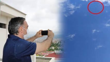 Samsunlu vatandaş UFO sandı, meteorolojinin hava tahmin balonu çıktı