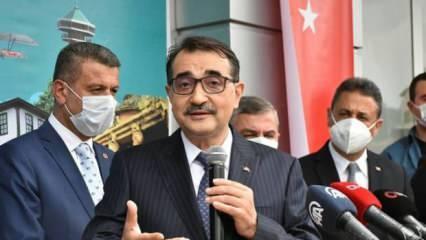 Bakan Fatih Dönmez'den doğal gaz keşfi açıklaması