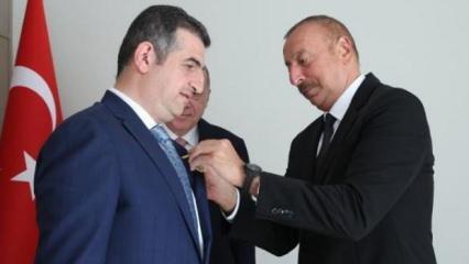 Aliyev'den, Haluk Bayraktar'a 'Karabağ Nişanı'