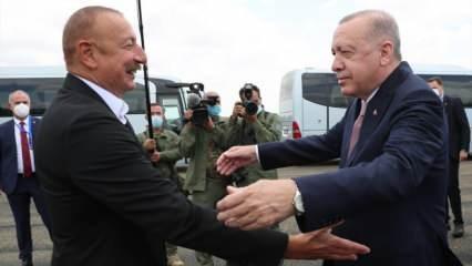 Tarihi ziyaret...Cumhurbaşkanı Erdoğan Şuşa'da