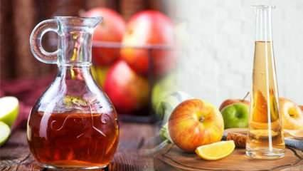 Elma sirkesinin mucizevi faydaları! Sivilceleri kurutuyor, lekelere iyi geliyor