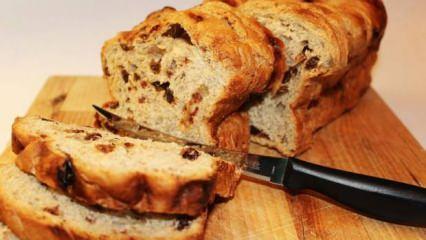En kolay kuru üzümlü ekmek nasıl yapılır? Tadı harika kuru üzümlü ekmek tarifi
