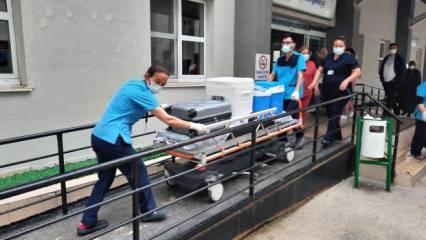 Bandırma'da beyin kanaması geçiren kadının organları 5 hastaya umut oldu