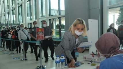 İstanbul Havalimanı'nda aşılama başladı