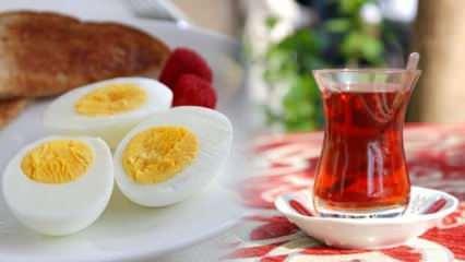 Kahvaltıda yumurta tüketiyorsanız çay içmeyin!