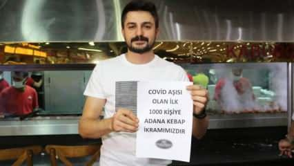 Korona aşısı olana Adana kebap bedava!