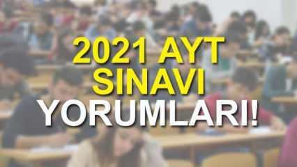 AYT sınavı kolay mıydı zor muydu? 2021 Alan Yeterlilik Testi yorumları!