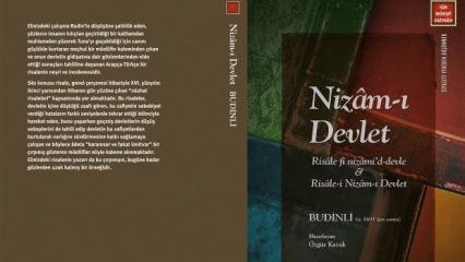 İslâm Medeniyeti Araştırmaları Dizisinden yeni kitap: Nizâm-ı Devlet