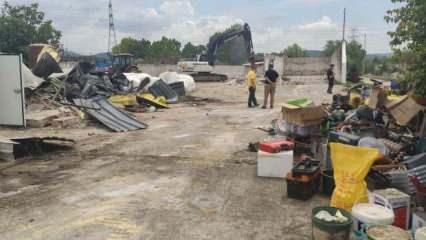 İYİ Partili Türkkan'ın çiftliğinin kaçak kısmı yıkıldı
