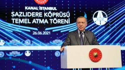 Kanal İstanbul için tarihi gün! Başkan Erdoğan: Yeni bir sayfa açıyoruz