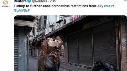 Reuters'ın Türkiye fotoğrafına tepki yağıyor!