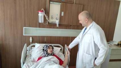 Temizlik yaparken sandalyeden düştü, Siirt'te ilk kez yapılan ameliyatla iyileşti!