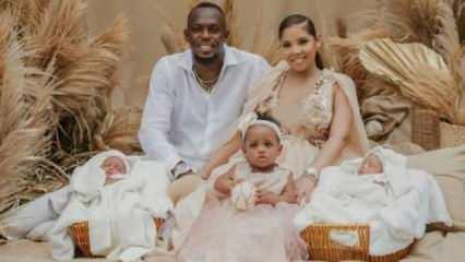 Usain Bolt ikiz oğullarının dünyaya geldiğini açıkladı!
