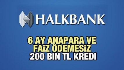 HalkBank 6 Ay Faiz ve Anapara Ödemesiz 200 Bin TL'ye Kredi imkanı! 2021 Kredi Başvuru Detayları