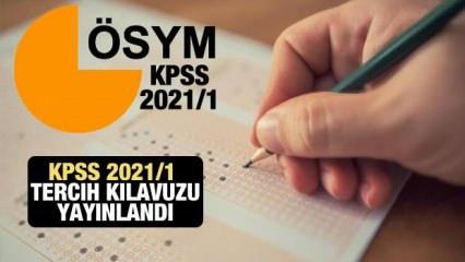 Mülakatsız memur alımı başvuruları için bugün son! KPSS 2021/1 tercih kılavuzu ekranı!