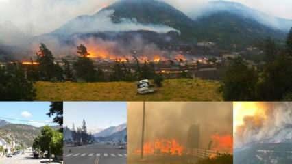 Rekor sıcaklık görülen köyün tamamı yanarak kül oldu