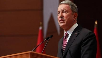 Bakan Akar'dan Yunanistan Savunma Bakanı'na tepki
