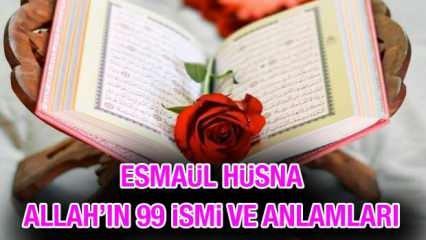 Esmaül Hüsna tesbihatı okunuşu & anlamı: Allah'ın 99 ismini okumanın fazileti - faydaları!