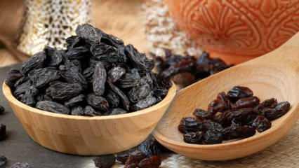 Siyah çekirdekli kuru üzümün faydaları nelerdir? 1 avuç kuru üzümün besin değerleri...