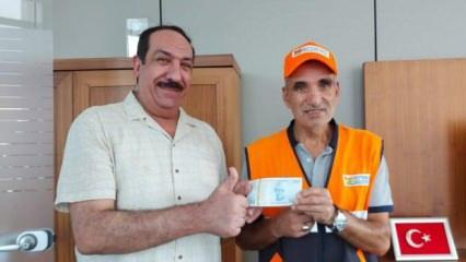 Zeytinburnu'nda temizlik işçisi yolda bulduğu parayı Iraklı sahibine teslim etti