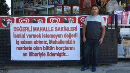 Aydın'da bir hayırsever 70 kişinin 35 bin liralık veresiye borcunu ödedi!