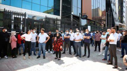 Sas Holding önünde eylem yapan 100 kişi: Tosuncuk gibi kaçmadan yakalayın!