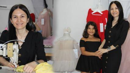8 yıl önce kızı için diktiği elbise hayatını değiştirdi! Birçok ülkeye ihracat yapıyor