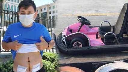 Antalya'da kemeri yanlış bağlanan go-kart 17 yaşındaki Furkan'ı az kalsın öldürüyordu!