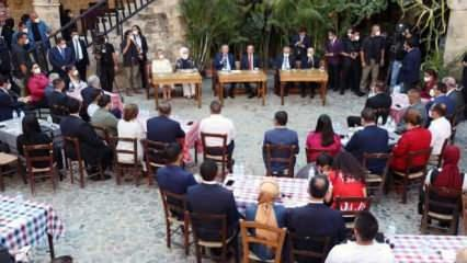 Cumhurbaşkanı Erdoğan, KKTC'de gençlerle bir araya geldi