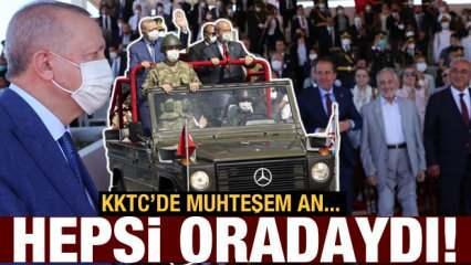 """Erdoğan, """"20 Temmuz Barış ve Özgürlük Bayramı"""" törenine katıldı!  Muhteşem anlar..."""