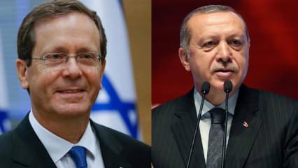 İsrail Cumhurbaşkanı Herzog'dan Cumhurbaşkanı Erdoğan'a mesaj