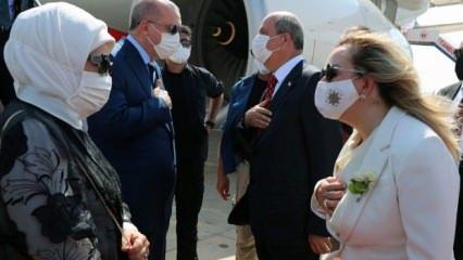 KKTC'de Erdoğan coşkusu! Dikkat çeken anlar