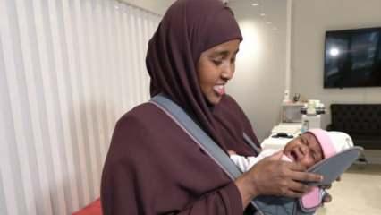 Somali'de 9 kez düşük yaptı! Annelik sevincini Türkiye'de yaşadı