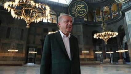 Son Dakika: Başkan Erdoğan'dan Ayasofya mesajı