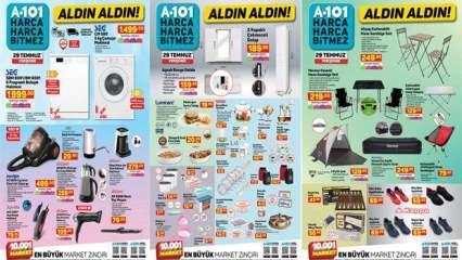 29 Temmuz A101 Aktüel Kataloğu! Mutfak araç gereçleri, beyaz eşya ve kamp ürünlerinde...