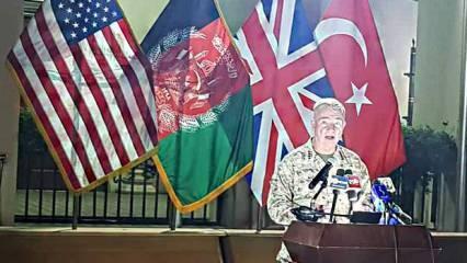 Amerikalı generalden Türk bayrağı önünde Afganistan açıklaması