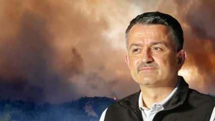 Yangın felaketindeki son duruma ilişkin Bakan Pakdemirli'den son dakika açıklamalar