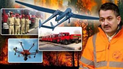 Bakan Pakdemirli: Orman yangınlarında ABD'den sonra askeri İHA kullanan tek ülke Türkiye